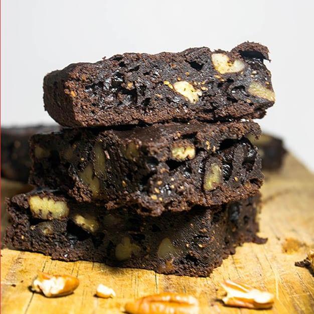Brownies veganos sin azucar