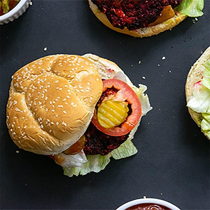 hamburguesas de betabel