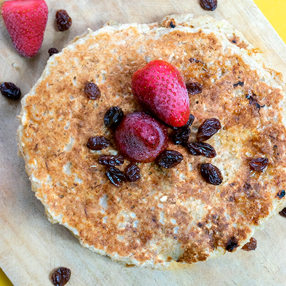 pancakes veganos de avena